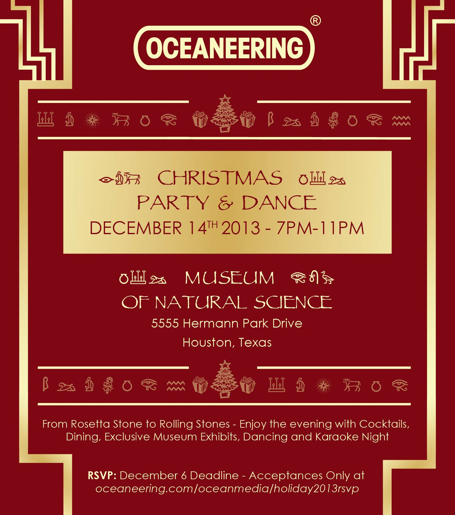 Oceaneering 2013 Holiday Party RSVP