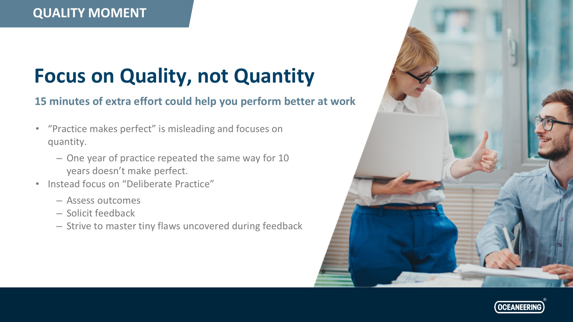Focus On Quality, Not Quantity