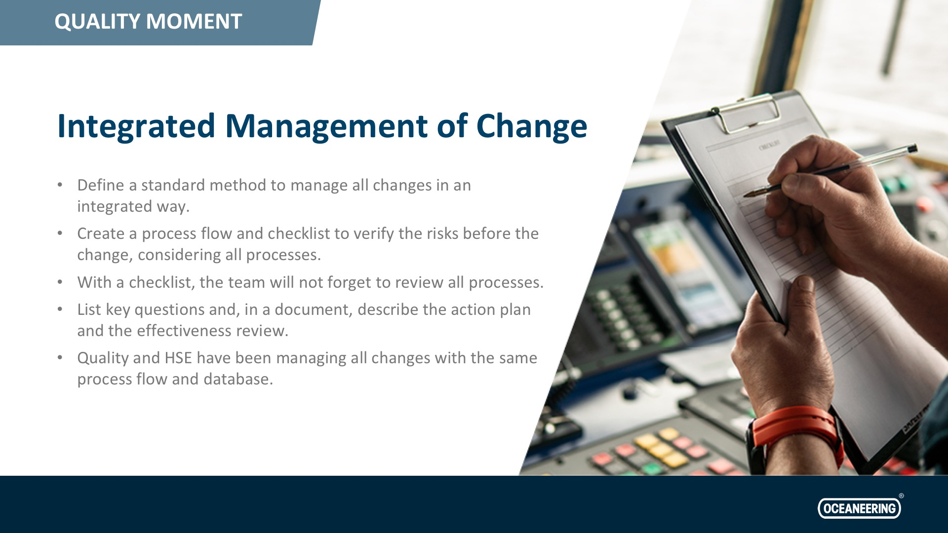 Integrated Management of Change