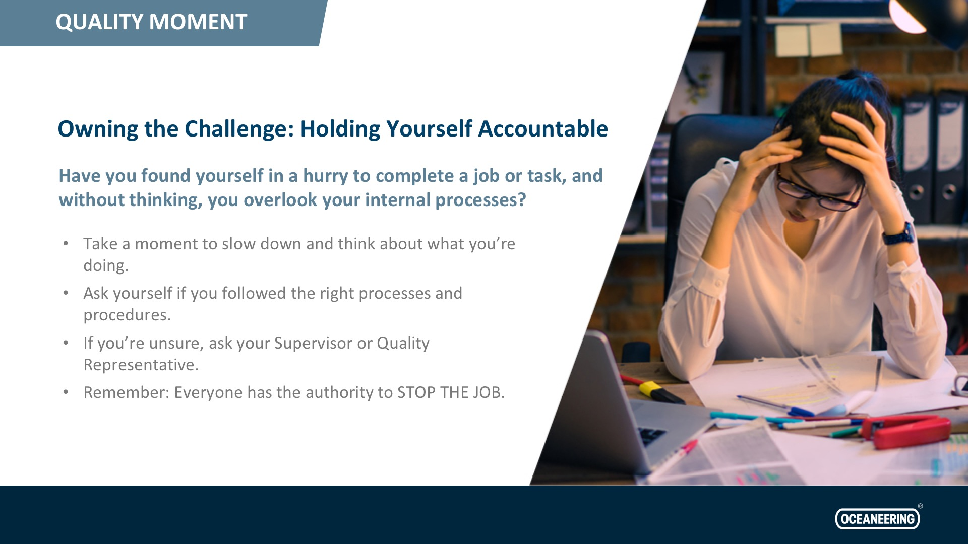 Owning the Challenge: Holding Yourself Accountable