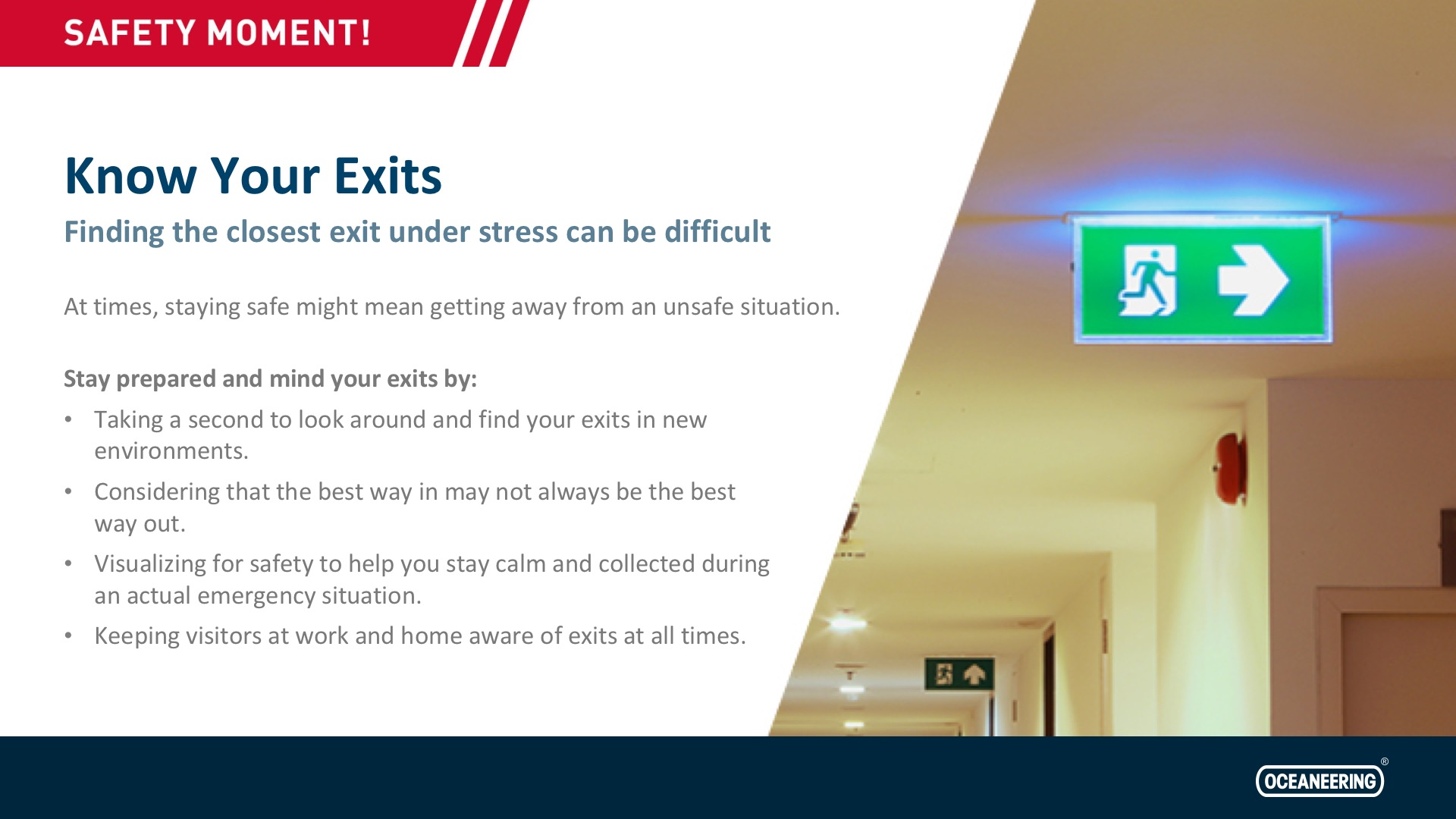 Know Your Exits