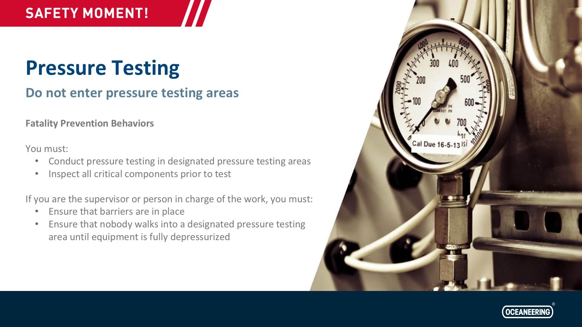 Teste de pressão