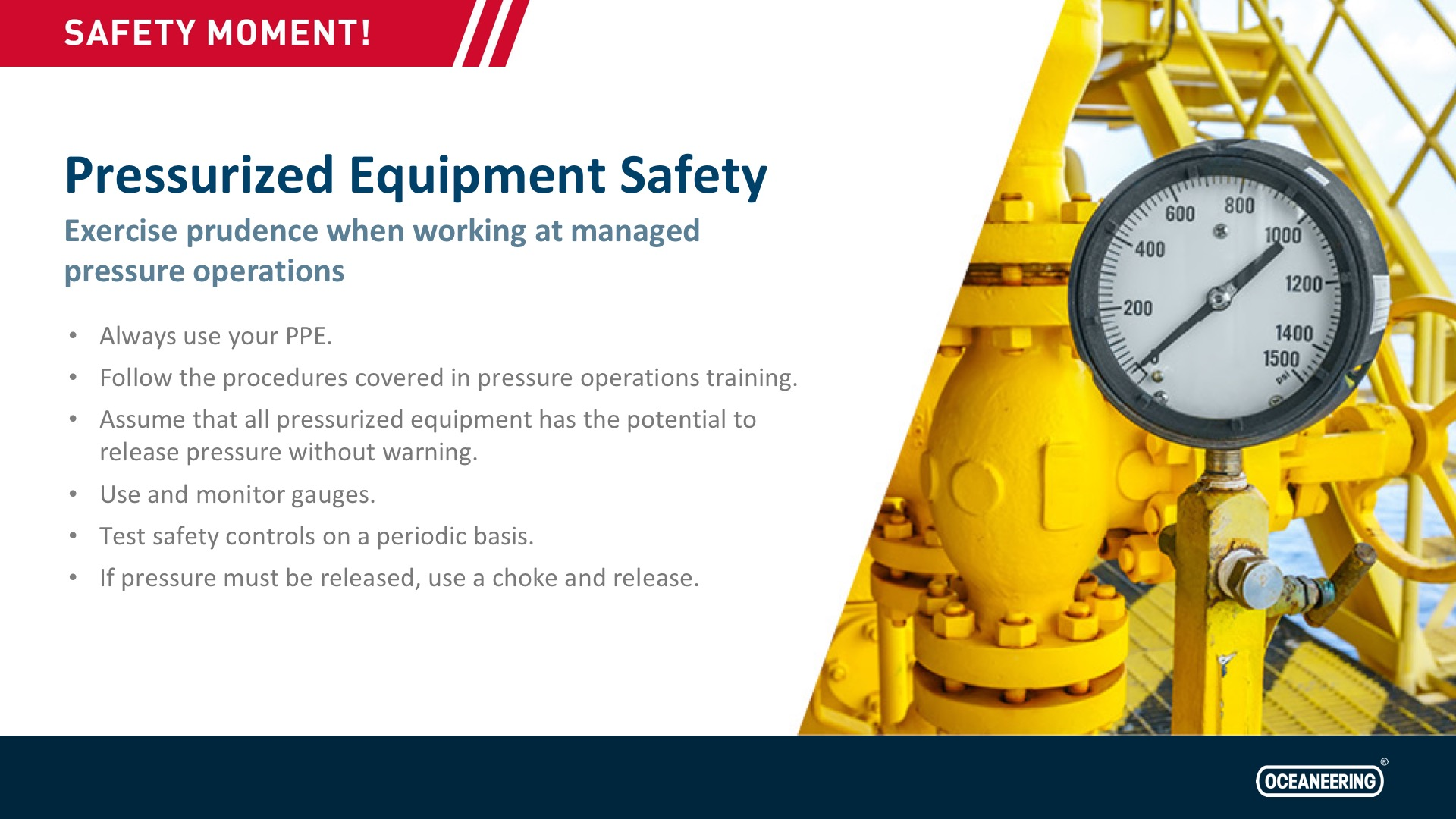 Pressurized Equipment Safety