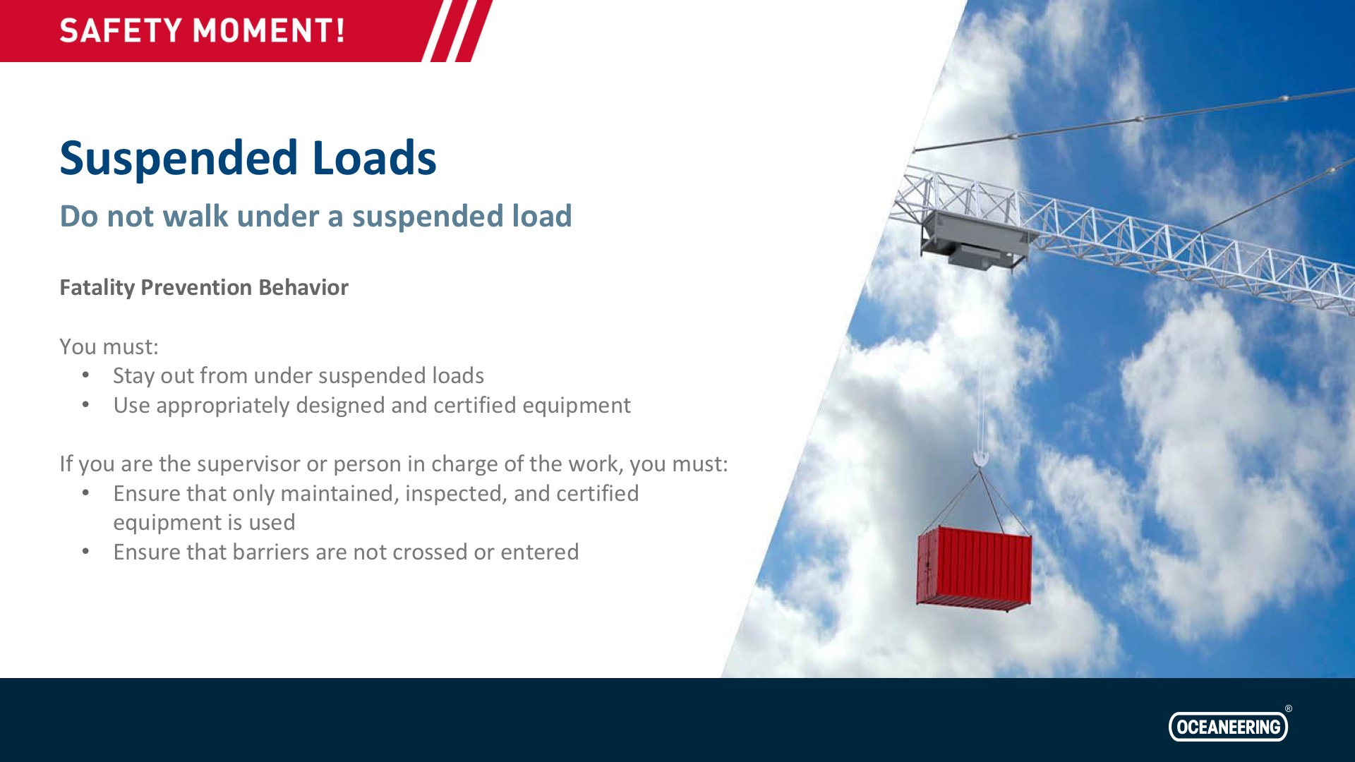 Suspended Loads