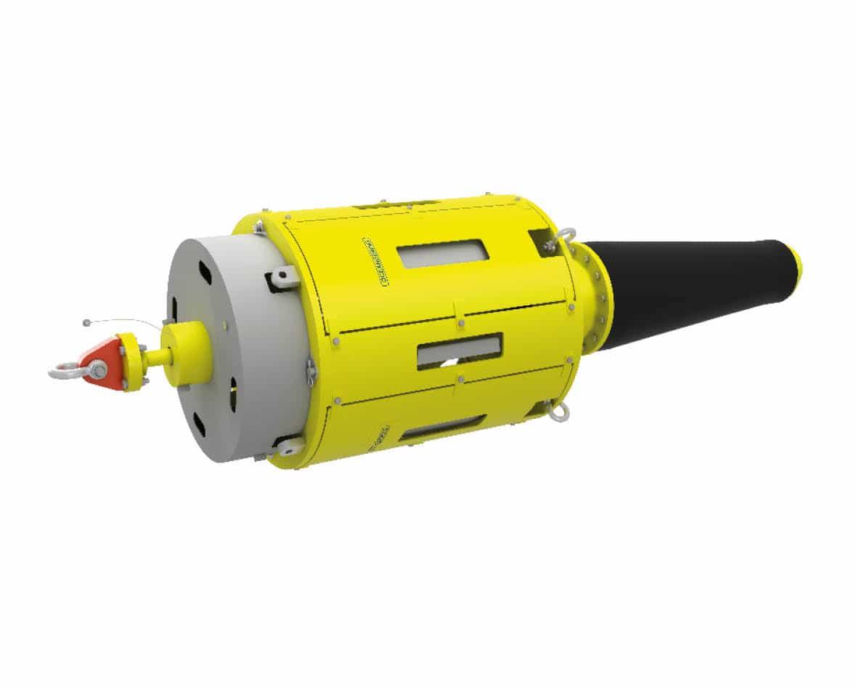 UTA cilíndrica, umbilicais, hardware submarino, oceanografia