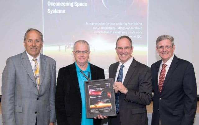 Oceaneering Space Systems Receives NASA's Safety and Health Excellence Award