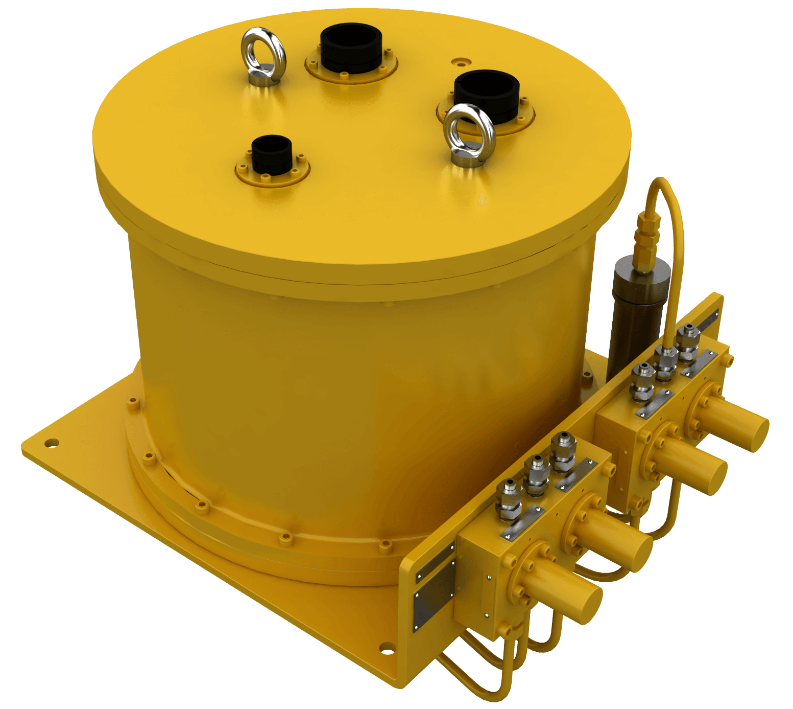 oceaneering, subsea control unit, subsea valves, control, connectors, additional lines, subsea, rotator