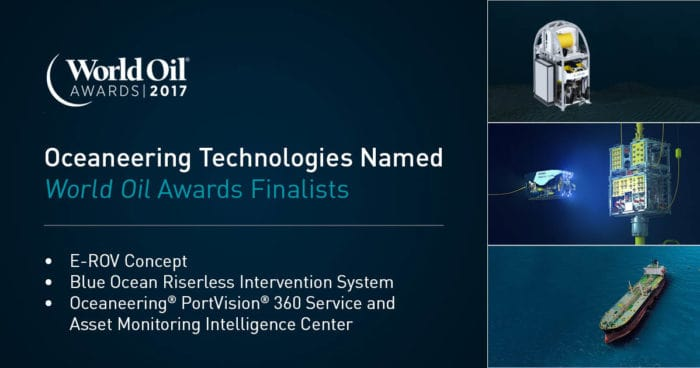Oceaneering Technologies Named as World Oil Awards Finalists