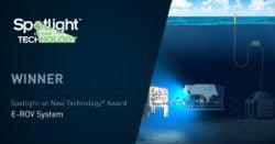 Spotlight on new technology award SW 250x131 - Oceaneering's E-ROV System Selected for OTC Spotlight on New Technology<sup>®</sup> Award