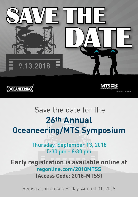 2018 SaveTheDate Web - 2018 Oceaneering/MTS Symposium