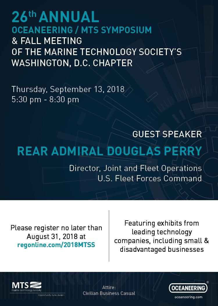 2018 Oceaneering | MTS Symposium