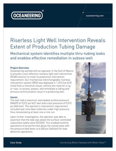 Light Well Intervention | Oceaneering