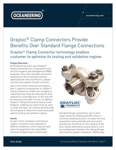 Grayloc Clamp Connectors Provide Benefits Over Standard