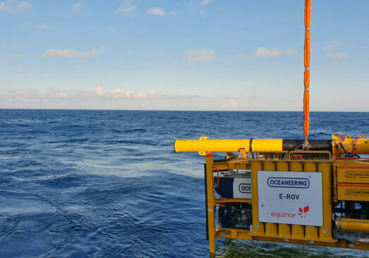 Oceaneering won the 2020 NOIA Safety in Seas Safety Practice Award for the Liberty™ E-ROV resident subsea vehicle.